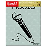 Microphone Stencil 8.5' x 11'
