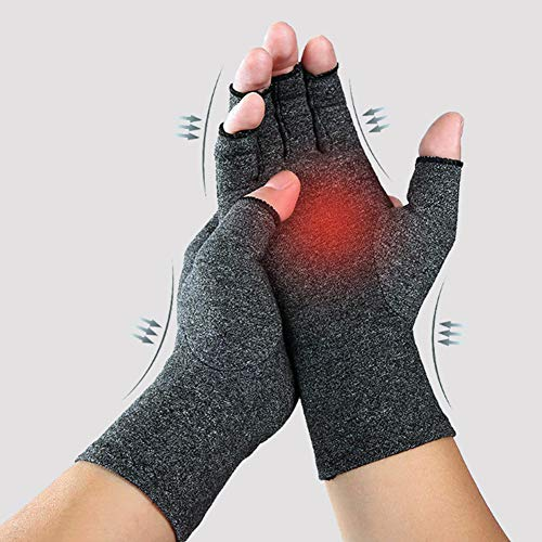 DYWOZDP Handschoenen met rheumatische artritis zonder vingers, verwarmende therapeutische compressiehandschoenen ter pijnverlichting, ondersteuning en verbetering van de bloedsomloop aan pols en hand, met ondersteuning van de carpalettunnel.