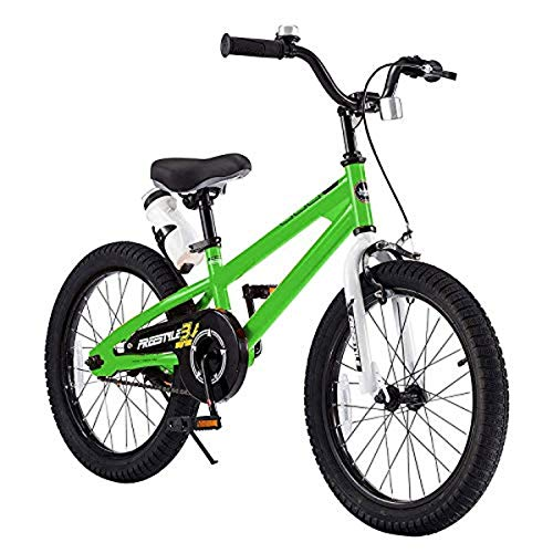 "RoyalBaby Freestyle 18"" Kids' Bike - Green"
