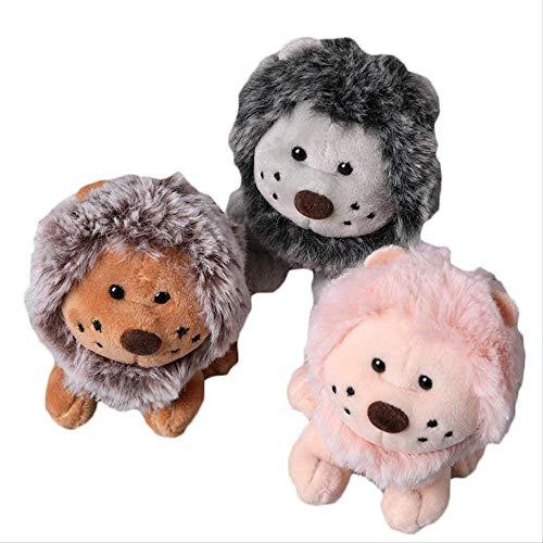 Ltong DREI Süße Cartoon Tier Löwe Plüschtier Schlüsselbund Rucksack Schlüsselbund 11Cm Löwe Kleines Geschenk Paar Zu Kindertasche Kleine Tasche Anhänger