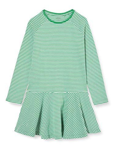 NAME IT Mädchen NKFVALENTINA LS DRESS B Kinderkleid, Mehrfarbig (Leprechaun), 158
