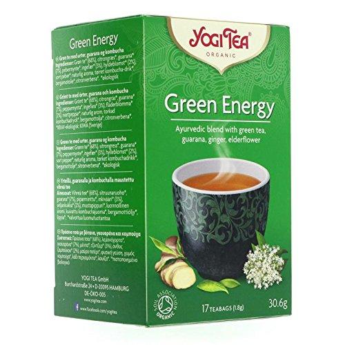 THREE PACKS of Yogi Teas - Organic Green Energy 15 Bags by Yogi Teas