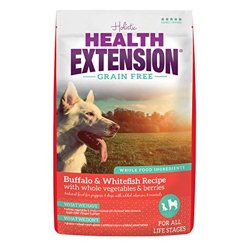 Health Extension Grain Free Dry Dog Food - Buffalo & Whitefish Recipe, 10lb