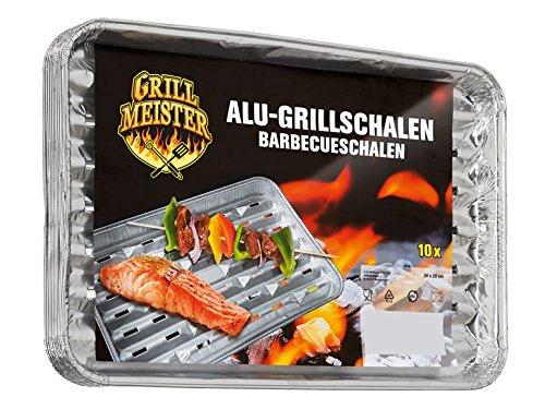 50x Alu Grillschale Grill Schale Grillmeister Aluminium-Grillschalen