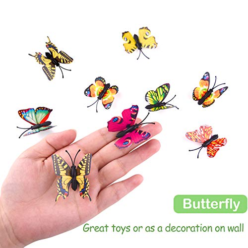 Auihiay 36 Pack Large Plastic Insect Figures Toys Assorted Bugs...