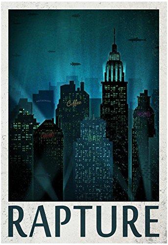 Rapture Retro Travel Poster 13 x 19in