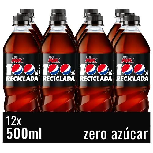 Pepsi Max Refresco De Cola Sin Azúcar, Botella, 12 x 500 ml