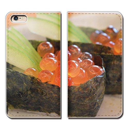 Galaxy A51 5G SCG07 ケース スマホケース 手帳型 ベルトなし お寿司 フード イクラ いくら 手帳ケース カバー バンドなし マグネット式 バンドレス EB259030114002