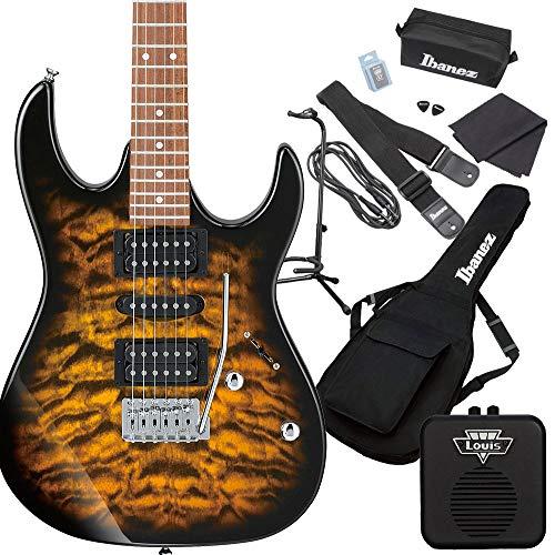 Gio Ibanez GRX70QA SB (Sunburst) エレキギター 初心者セット ミニアンプ付き ジオ アイバニーズ