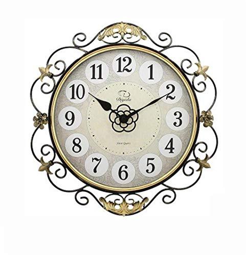 YANGLOU-Reloj de bolsillo- Relojes y relojes Modern Living Room Reloj de pared y creativo Reloj de bolsillo de cuarzo simple y silencioso relojes y relojes Relojes de pared (Color: 6 #, Tamaño: 16) OU