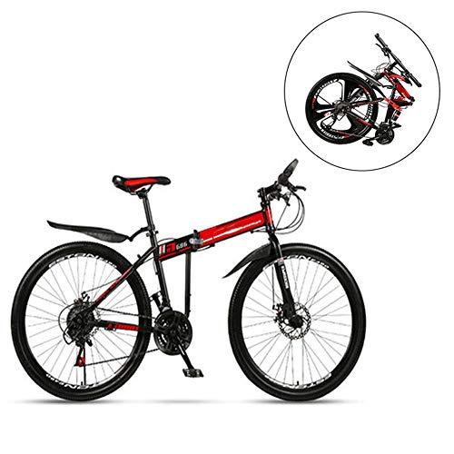 XWSD 26 in Faltrad Fahrrad, Erwachsene, 27 Geschwindigkeit, Sicherheit bieten, schnell zusammenklappen, leicht zu tragen, Nicht platzsparend, für Ihre Reise, Büroangestellte