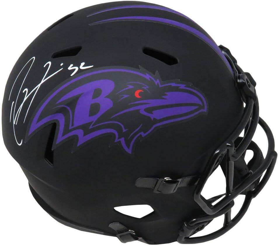 Gifts Ray Lewis Signed Baltimore Ravens Fu online shop Matte Eclipse Black Riddell