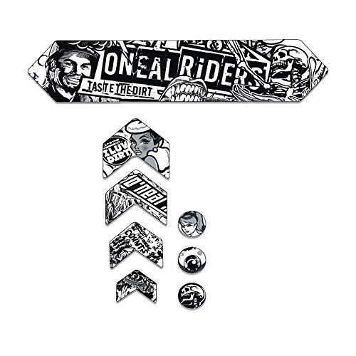 AZONIC   Fahrrad-Rahmenschutz   MTB Downhill Freeride Mountainbike BMX   Spezielles Diamantprofil und Beste Kratzfestigkeit, Einfach zu montieren, Wenig Gewicht   Frame Guards Crank   Grau   L