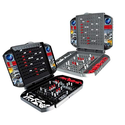 Juego de mesa de acorazado para 2 jugadores - Juegos de mesa de barcos de batalla de estrategia de juguete clásico clásico ruso para la familia
