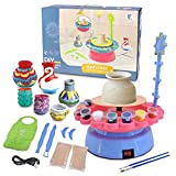 Complete Pottery Wheel Set, Pottery Station for Beginner, Includes Pressure-Sensitive Foot Pedal and Learning Manual, Arts and Crafts for Kids and Adults, Pottery Studio Kit with Table Accessories