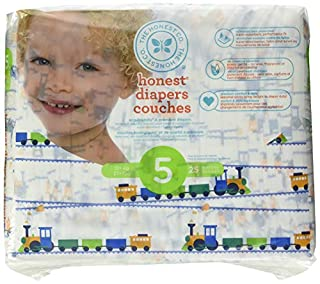 The Honest Company Disposable diapers, trains print polybag, size 5, 25 Count (B072L75V4D) | Amazon price tracker / tracking, Amazon price history charts, Amazon price watches, Amazon price drop alerts