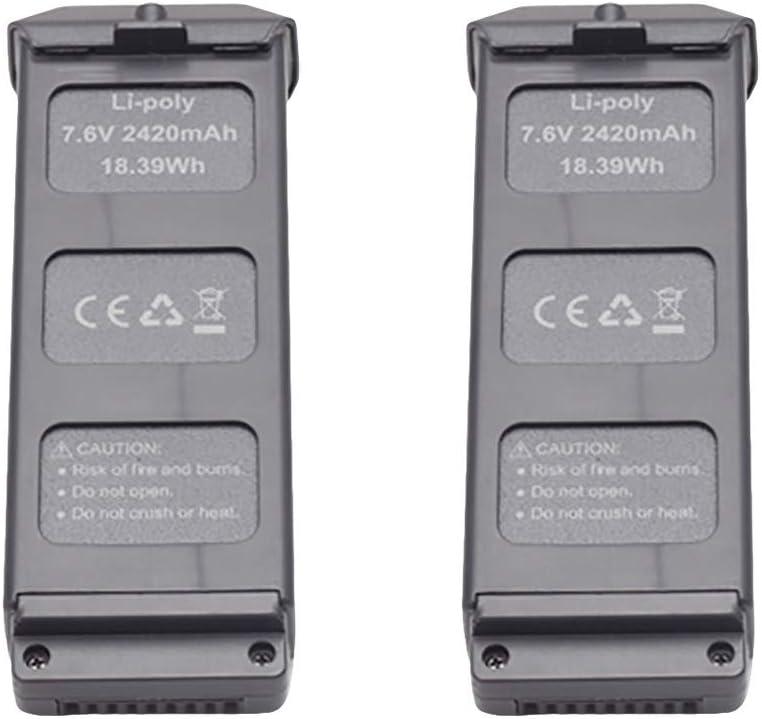 trend rank 2Pcs High Rare Capacity RC Quadcopter 7.6V 2420mAh Battery Lipo Compa