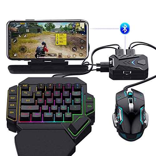 metagio Gaming-Tastatur-Konverter und Paly Gamepad mobiler Bluetooth 5.0 Controller fr Android iOS Handy Adapter fr PUBG Call of Duty Fortnite