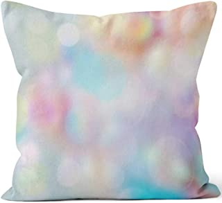 Nine City Bubbles Rainbow Color Easter Wallpaper Throw Pillow Cover,HD Printing for Sofa Couch Car Bedroom Living Room Decor,26