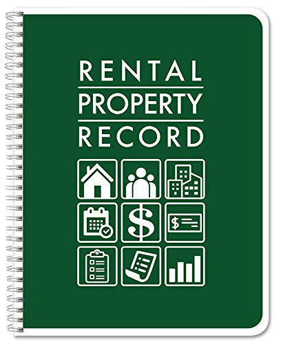"BookFactory Rental Property Record Book/Rental Property Log Book - Wire-O, 100 Pages, 8.5"" x 11"" (LOG-100-7CW(RentalProperty)-RX)"