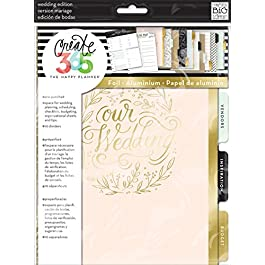 me & my BIG ideas Wedding Extension Pack – The Happy Planner Scrapbooking Supplies – Pre-Punched Pages – Wedding…