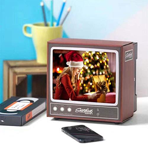 Keepus 2020 Retro TV Phone Holder Video Screen Enlarge Amplifier for Cell Mobile Stand - 3D-Bildschirm Telefonhalter Aus Zooms Ständer Vergrößerungsglas Für Alle Smartphone Modi