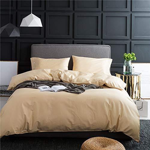 YuanBo Wo Large Size Quilt Cover Bed Sheet Pillow Case Simple Pure Cotton Bedding Long Staple Cotton High Density Four Piece Set (light Gold) (Size : 2m)
