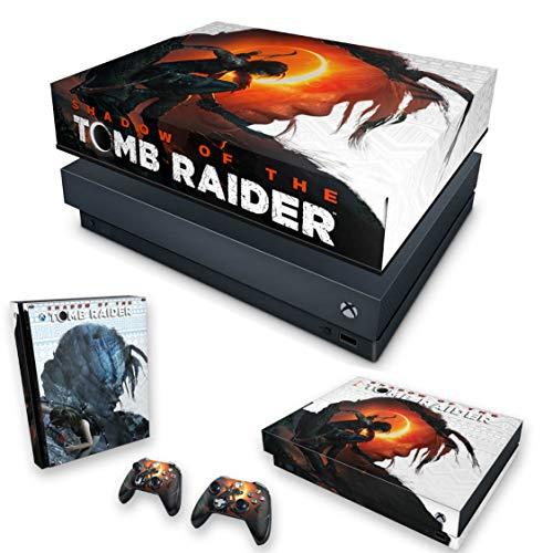 Capa Anti Poeira e Skin para Xbox One X - Shadow Of The Tomb Raider