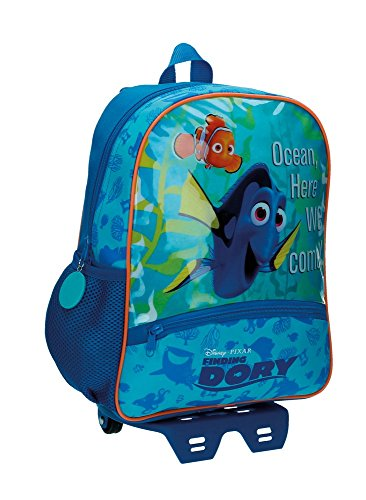 Disney Finding Dory Mochila Preescolar con Carro Azul 27x33x11 cms Poliéster 9.8L