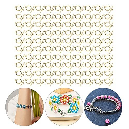 Cierres de palanca, acero inoxidable fácil de usar conveniente hebilla OT Práctica resistente para colgantes para pulseras para pendientes para collares para manualidades(Oro antiguo)