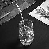BESTonZON 6 Stück Edelstahl Herzform Metall Trinkhalm Wiederverwendbare Strohhalme Cocktail Löffel Set (Ovale Form) - 8