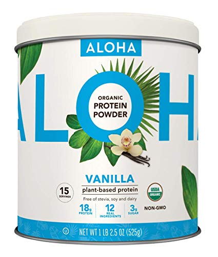 Plant-Based Protein Powder | Organic Vanilla Keto Friendly Vegan Protein with MCT Oil, 18.5 oz, Makes 15 Shakes, Vegan, Gluten Free, Non-GMO, Stevia Free & Erythritol Free, Soy Free, Dairy Free & Only 3g Sugar