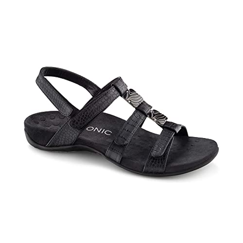 7abeaf98e96e Vionic Women s Women s Rest Amber Backstrap Sandal - Ladies Adjustable  Walking Sandals with Concealed Orthotic Arch