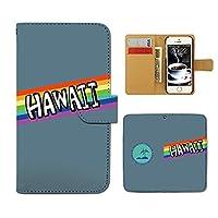 Galaxy A21 UQ mobile SCV49 ケース 手帳型 ハワイ 手帳ケース スマホケース カバー HAWAII 海 ハイビスカス E0106040115001