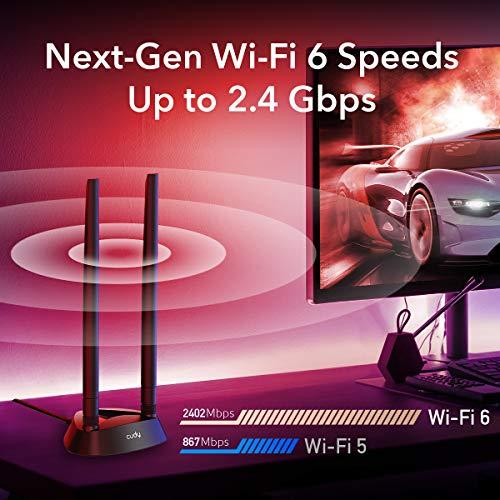 Cudy AX3000 WiFi 6 PCIe Card, Bluetooth 5.0 PCIe Adapter, AX200 Inside, 2402Mbps + 574Mbps, 160MHz, WPA3, Bluetooth 5.0 / 4.2 / 4.0, 802.11 ax/ac/a/b/g/n, Windows 10 64-bit Only (WE4000)