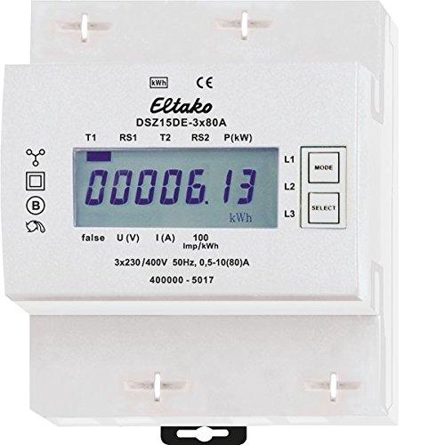 Eltako DSZ15DE-3x80A Drehstromzähler, ungeeicht, 400 V