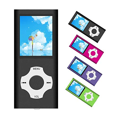 MP3 Player / MP4 Player, Portable Music Player with a 32GB TF Card with Music/Video/Voice Record/FM Radio/E-Book Reader/Photo Viewer (Black)