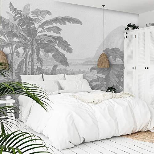 Daring Walls Wallpaper Radierung afrikanischer Landschaft - hellgrau 350 cm