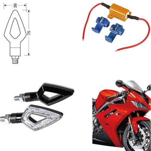 90247 + 61 Paire Clignotants LED Moto Honda NC 700 S DCT indicateurs Direction résistance homologuées universels Moto Noires
