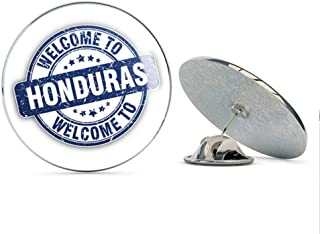 Honduras Grunge Welcome Travel Stamp Round Metal 0.75
