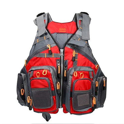 Amarine Made Fly Fishing Vest Pack (Fishing Vest/Fishing Sling Pack/Fishing Backpack) (Red)
