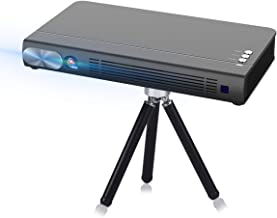 Cocar 3D Mini Projector T6 DLP-Link 2400 Lumen Portable Video Projector Android 6.0 2020 New Upgrade Built-in Battery Louder Speaker WiFi Bluetooth HDMI Support 4K Keystone Correction