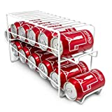 Sorbus Soda Can Rack Beverage Dispenser – Dispenses 12 Standard Size 12oz Soda Cans (White)