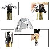 Itian Edelstahl Silber Sektverschluss Champagner-Stopper Flaschenverschluss 2 pcs