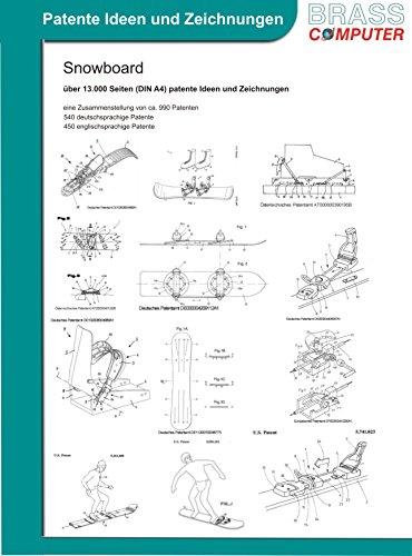 Snowboard, über 17.400 Seiten (DIN A4) patente Ideen und Zeichnungen