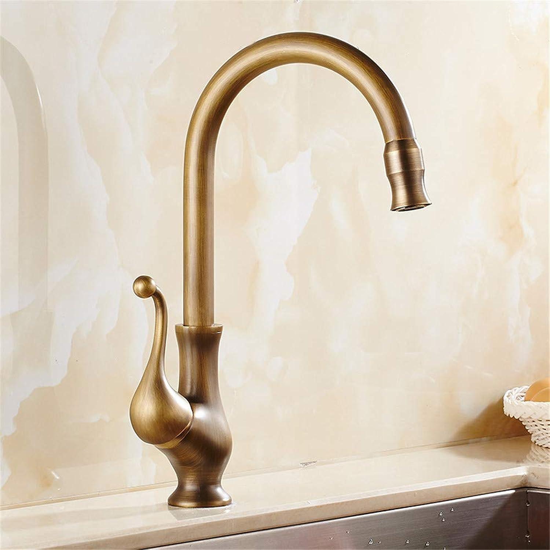 Wasserhahn Küche Waschbecken Badezimmer Antike Messing Küchenarmatur Luxus Spülbecken Wasserhahn 360 Grad Waschtischarmaturen Mischbatterie Hei und Kalt