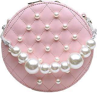 TOOGOO Circular Pearl Women Bag PU Handbags Summer Fashion Shoulder Bag Crossbody Bags For Women Messenger White