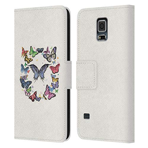 Head Case Designs Ufficiale Nene Thomas Anello A Farfalla Farfalle Cover in Pelle a Portafoglio Compatibile con Samsung Galaxy S5 / S5 Neo