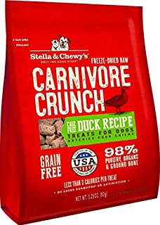 Stella & Chewy's Carnivore Crunch Cage-Free Duck Recipe Freeze-Dried Raw Dog Treats, 3.25-oz bag