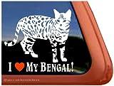 I Love My Bengal Cat Vinyl Window Decal Sticker